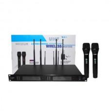 Ealsem S5 база + 2 ручных беспроводных микрофона 4 антенны