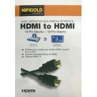 Кабель HDMI-HDMI HIFI GOLD 5 метров