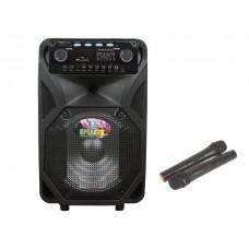 Комбо колонка с Bluetooth и Двумя радио микрофонами 250 Вт