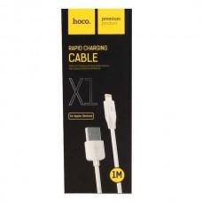 кабель hoco x1 lightning 1m white