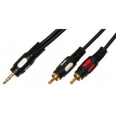 Аудио кабель Jack 3,5 - 2RCA Premier 5-134/15