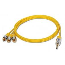 DAXX J47-11 Аналоговый аудио/видео кабель Mini-Jack - 3RCA, 1,1 метр
