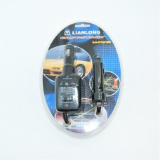 Автоадаптер- автозапуск  через прикуриват. другой машины индикатор зарядки