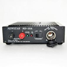 Автоадаптер  вход 24v (штекер прикуривателя) - вых. клемма 13.8v +.доп.гнездо прикурвателя.12v - 10A