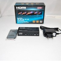 Коммутатор HDMI 1,3 1080P, FULL HD, 3D  2 входа -1 выход (c усилителем + пульт), DC 5v, корпус металл