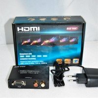 Конвертер  вход HDMI - выход VGA (video) + 2*RCA (audio) DC 5v