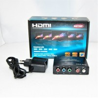 Конвертер  вход YPbPr (video 3*RCA) +2*RCA (audio) - выход HDMI DC 5v