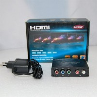 Конвертер  вход HDMI - выход YPbPr (video 3*RCA) + 2*RCA (audio) DC 5v