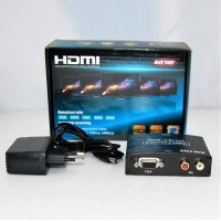 Конвертер  вход VGA (video) +2*RCA (audio) - выход HDMI DC 5v