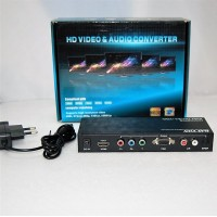Конвертер  вход HDMI - выход VGA - YPbPr (video) + 2*RCA - S/PDIF OPTICAL (audio) DC 5v