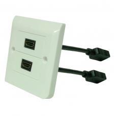 HDMI розетка Dr.HD 2xHDMI pigtail, квадратная