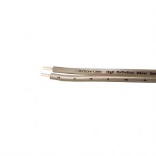 NorStone Silver SV250 1m,акустический кабель, сечение 2х2,5мм², посеребренная OFC, белая оплетка.1 м