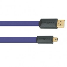 Wireworld Ultraviolet 7 USB 2.0 A to Mini B Flat Cable 0.5m, кабельUSB, типA-miniB, 0,5м. (USM0.5M-7)