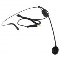 Головной микрофон черного цвета с разъемом мини джек 3,5 мм. с резьбой HS01