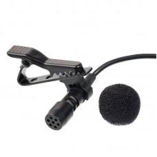 Петличный микрофон с разъемом мини джек 3,5 мм. с гайкой LP1