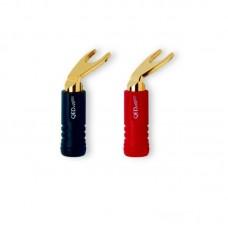 Разъем акустический типа лопатка QED Airloc Plastic Standart Spade Plug/20 QE1830