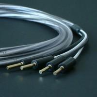 Abbey Road Monitor  BW  2.5 m  (4mm). Акустический кабель. Цвет черно-белый. Разъем MOVING AIR banan.