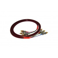 Black Rhodium Magenta х 3  1,5 m .Компонентный видео кабель. Разъемы RCA.