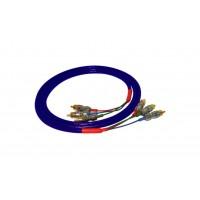 Black Rhodium Indigo х 3 1,5 m. Компонентный видео кабель. Разъемы RCA.