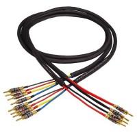 Black Rhodium Polar Samurai DCT++ BW 2,5 m (spade/banan). Акустический кабель