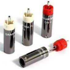 Graham Nalty RCA gold plug kit GN-4G. Комплект RCA-разъемов под межблочный кабель 2 красных и 2 белых