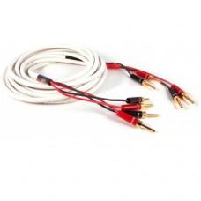 1Black Rhodium  JIVE x2  1,5м, banan. White Акустический кабель. Цвет белый