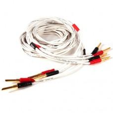 Black Rhodium  Twist 2,5м, banan White. Акустический кабель. Цвет белый.