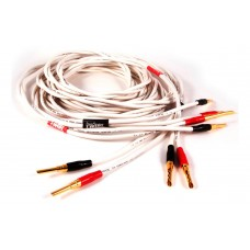 Black Rhodium  TWIRL 2,5м  banan White. Акустический кабель. Цвет белый.