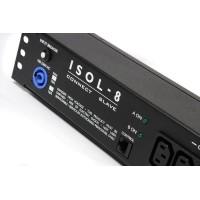 Isol-8 Connect Slave Schuko 2x2  Black. Профессиональный сетевой фильтр для установки в RACK.