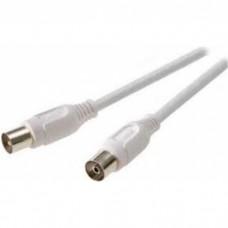 43029.7/17 WS-N. Ант. TV кабель, штырь - гнездо, белый, > 90 dB, 5 м - (4180)