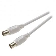 43063.7/73-N.Ант. TV кабель ,штырь - штырь,белый , > 50 dB , 3,0 м - (7449)