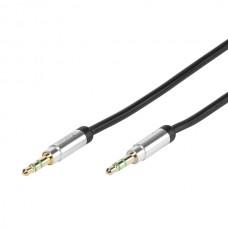31038.MP A1 03B. Аудио , стерео кабель HiFi 3.5мм(штырь) - 3.5мм(штырь), 0.3м, золоченый, (для iPhone/iPod/iPad/MP3 плеера)