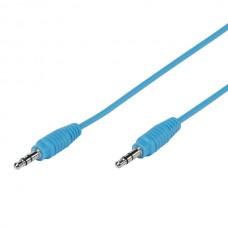 35812. PBVV35CBLUE. Аудио, стерео кабель 3.5 мм джек (штырь) - 3.5 мм джек (штырь) 1м, синий