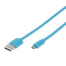 35817. PBVVMUSBBLUE. Кабель USB - micro USB, 1м, синий