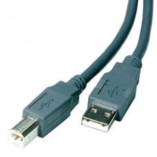 25407.PS B/CK15/18. Кабель USB 2.0  A -> B, 1,8м, серый