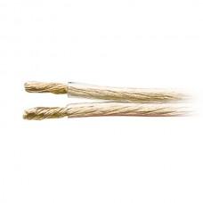 41815.FL 400T. Акустический кабель, 2x4,0 мм, сост 511x0,1 мм, прозр. 50 м (5809) цена за 1 метр