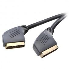 42003.VK 17 G-N. Видео, стерео кабель, SCART-SCART,21 pin, 1.5 м, золоченый - (22188)