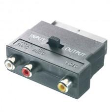 42021.9/132-N. Адаптер AV-стерео SCART<->3x RCA(тюльпан) - (13782)