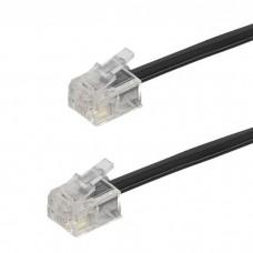 45113.TK 1A-N.Телефонный кабель, черный, 6м