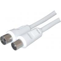 44084.STC AV30-N. Антенный кабель штырь - гнездо, белый, 3.0м