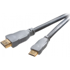 42112.HDHD/15-14AC-N. Высокоскоростной HDMI A - HDMI C (mini) кабель с Ethernet, 1.5 м, серый