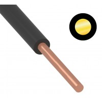 Провод ПуВ (ПВ-1) 1,5 мм² 500 м черный ГОСТ 31947-2012,ТУ 16-705. 501-2010