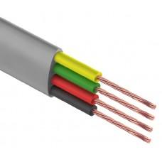 Телефонный кабель ШТЛП REXANT 4 жилы CCA, серый, бухта 100 м