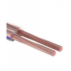 Кабель акустический 2х0,25 мм² прозрачный BLUELINE (м. бухта 10 м) REXANT