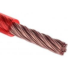 Кабель питания силовой REXANT 1х6 мм², красный, ø6 мм, бухта 50 м
