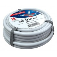 Провод соединительный ПВС 2x1,5 мм², длина 10 метров, ГОСТ 7399-97  REXANT