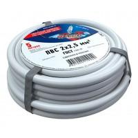 Провод соединительный ПВС 2x2,5 мм², длина 5 метров, ГОСТ 7399-97  REXANT
