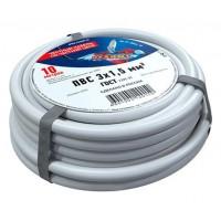 Провод соединительный ПВС 3x1,5 мм², длина 10 метров, ГОСТ 7399-97  REXANT