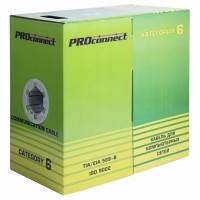 Кабель витая пара PROconnect UTP 4PR 23AWG, CAT6 (бухта 305 м)