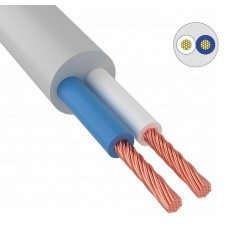 Провод соединительный ПВС 2x4,0 мм² 100 м белый ГОСТ 7399-97